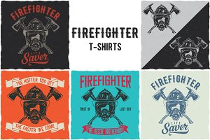 Firefighter T-shirts Designs