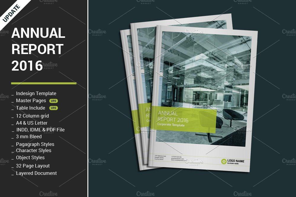 Annual Report 2016 ~ Brochure Templates ~ Creative Market