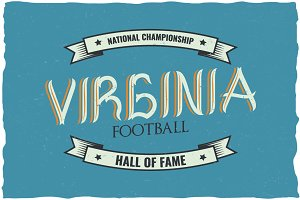Virginia Vintage Label Typeface
