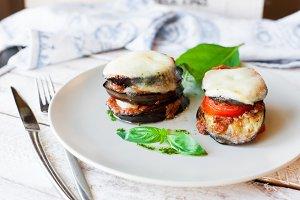 Parmigiana di melanzane: baked eggplant - italy