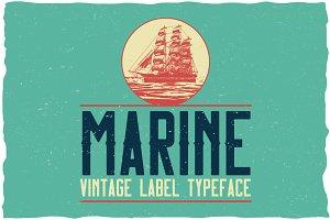 Vintage Marine Label Typeface
