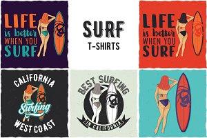 Surfing T-shirts Designs