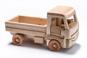 Truck toy made from wood