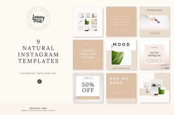 Natural Instagram Template