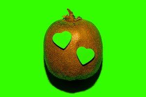 Kiwi with hearts. Love fruits