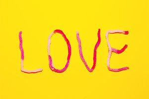 Text Love Candy Color Fashion