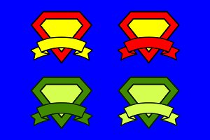 Super diamonds with ribbons