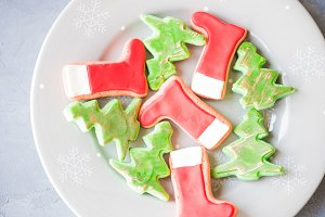 Christmas cookies concept