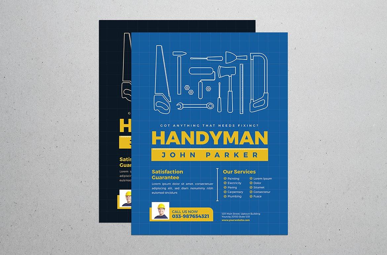 handyman business card template business card templates creative