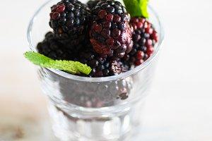 Ripe organic blackberries