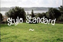 Stylo Standard - hand drawn font