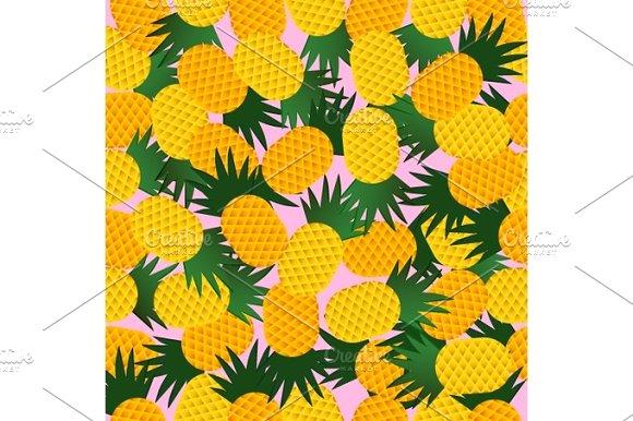 Pineapple Seamless Pattern Vector Illustration