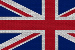 flag of the United Kingdom (UK) aka Union Jack with fabric texture