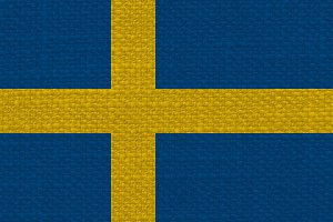 Swedish Flag of Sweden with fabric texture