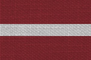 Latvian Flag of Latvia with fabric texture