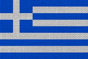 Greek Flag of Greece with fabric texture