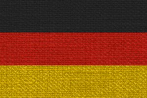 German Flag of Germany with fabric texture