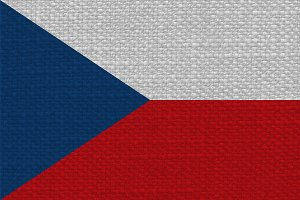 Czech Flag of Czech Republic with fabric texture