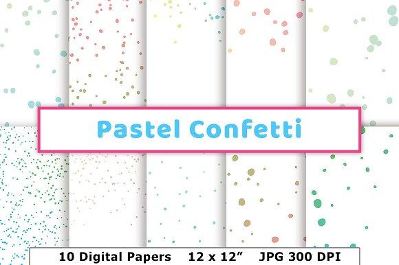 Pastel Confetti Digital Paper