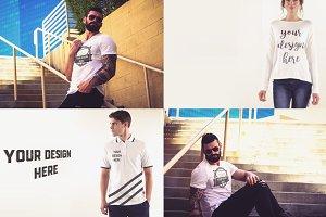 48 PSD T-shirt Mock-up Bundle