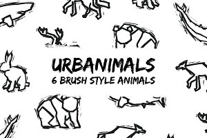 Urbanimals - 6 Brush Style Animals