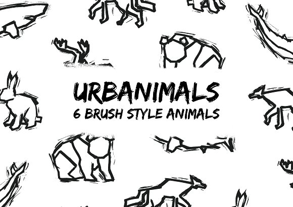 Urbanimals 6 Brush Style Animals