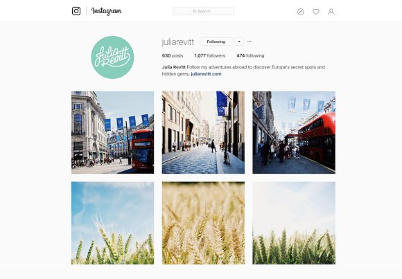 Instagram Web UI Mobile Desktop