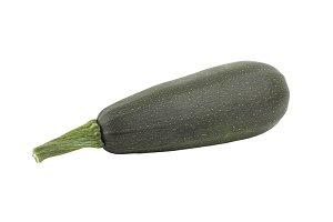 Dark green zucchini, isolated on white