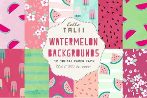 Watermelon Digital Paper