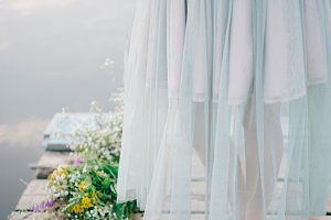 wedding mint dress