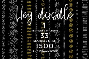 Hey Doodle – a seamless pattern