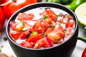 Traditional Latin American mexican salsa  sauce