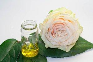 Natural rose oil, top view