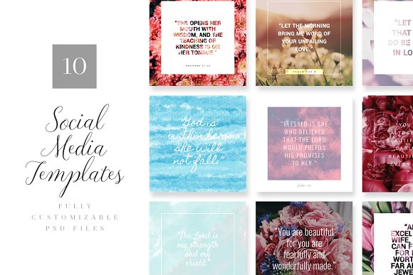 Flora Social Media Templates