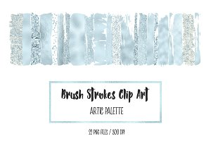 Artic Brush Strokes Clip Art