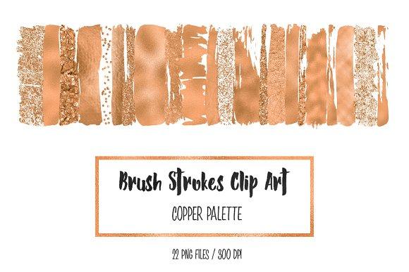 Copper Brush Stokres Clip Art