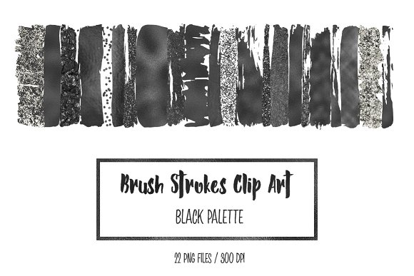 Black Brush Strokes Clip Art
