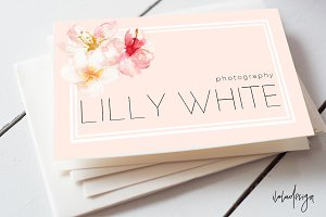 Floral Pink Business Card