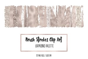 Cappucino Brush Strokes Clip Art