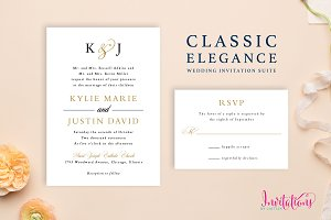 Classic Elegant Wedding Invite Suite