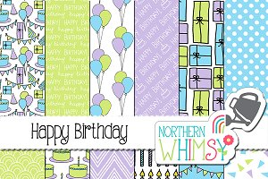 Baby Boy Pastel Birthday Patterns