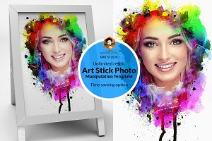 Art Stick Photo Template