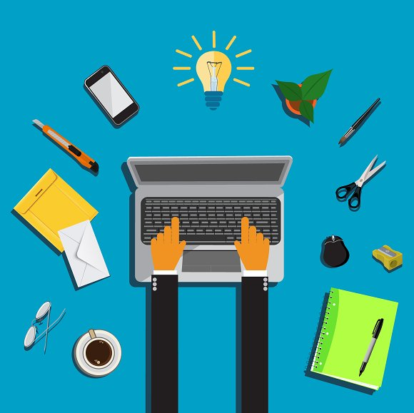 Work Place Vector Illustration