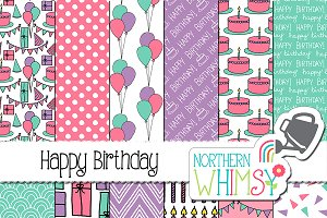 Girls Birthday Patterns