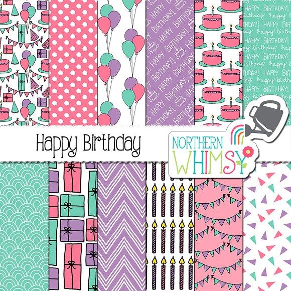 Girls Birthday Patterns