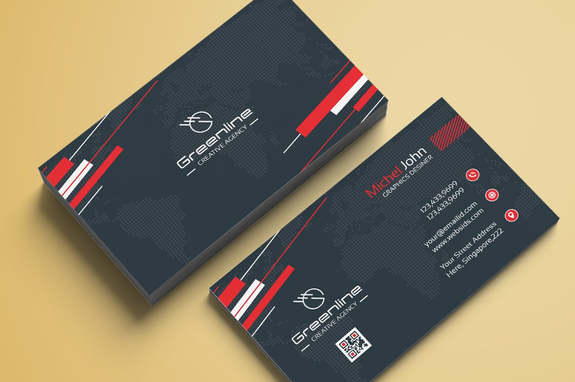 Business card template vol08 business card templates creative business card template wajeb Choice Image