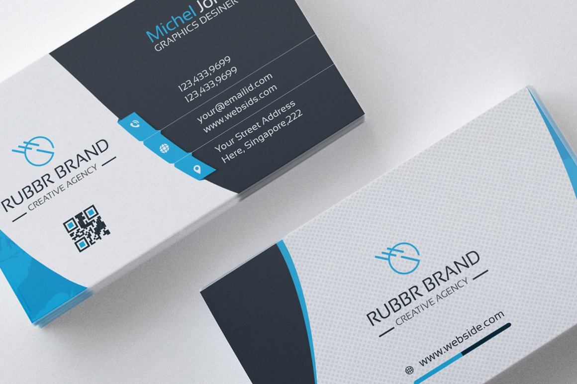 Business card template vol04 business card templates creative business card template fbccfo Choice Image