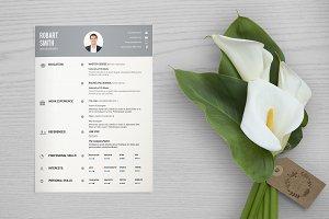 Resume / Cv Template-V034