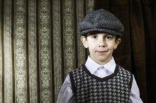 Boy in vintage suit