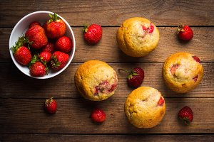 Fresh homemade muffins